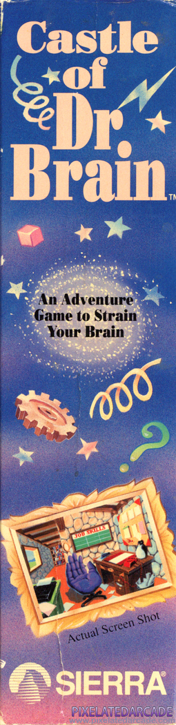 Castle of Dr. Brain Cover Art: Right Spine
