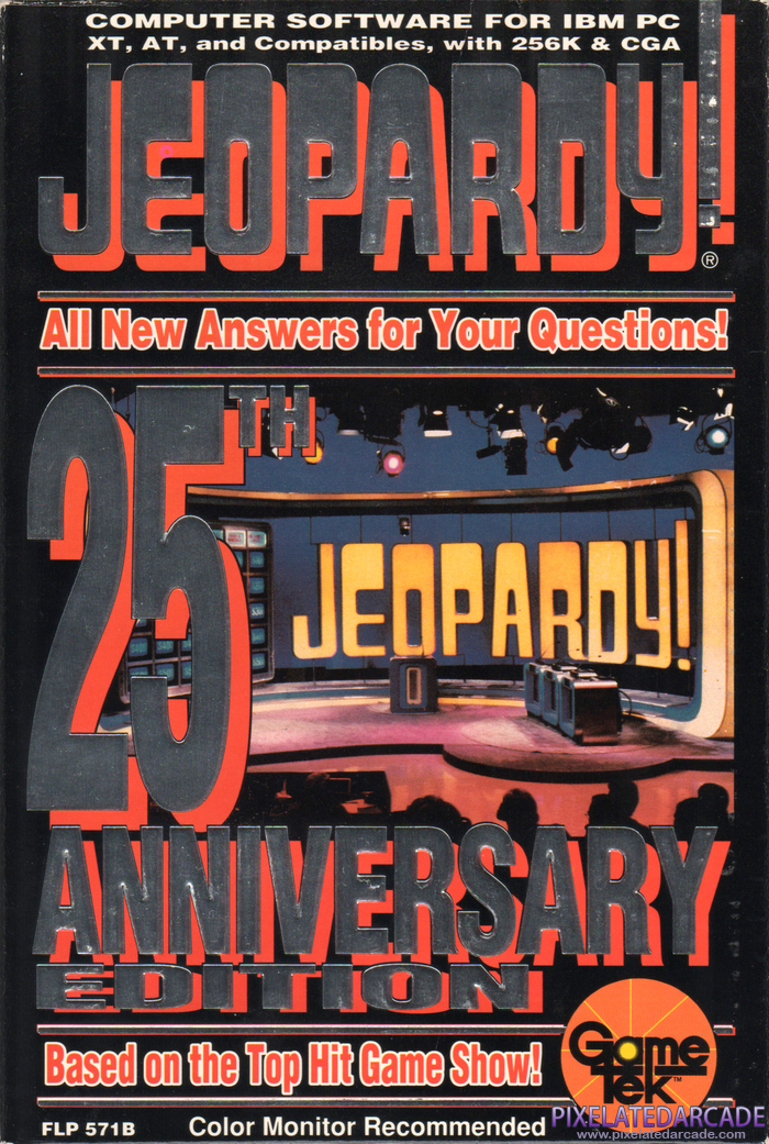 Jeopardy! 25th Anniversary Edition Cover Art: