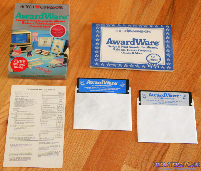 AwardWare Cover Art: AwardWare box and contents