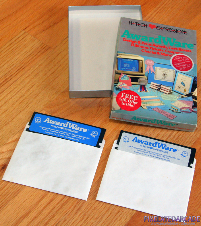 AwardWare Cover Art: AwardWare box and disks