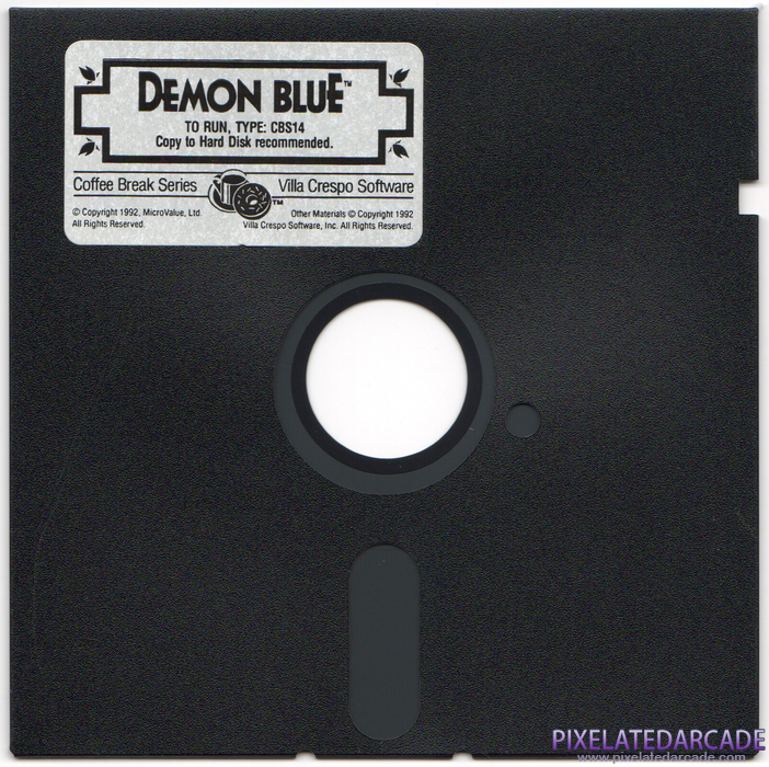 Demon Blue Cover Art: Disk 1 of 1