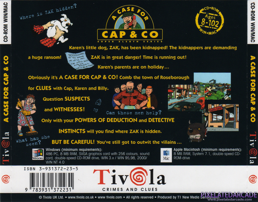 A Case for Cap & Co Cover Art: Back