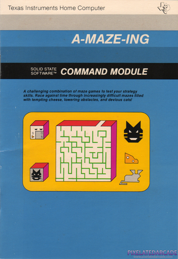 A-Maze-Ing Cover Art: Instruction Manual - Front