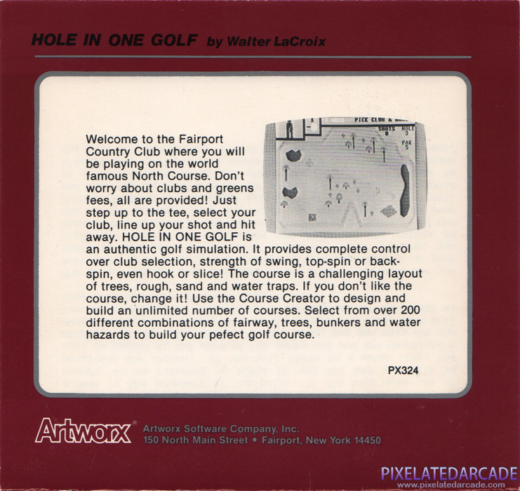 Hole in One Golf Cover Art: