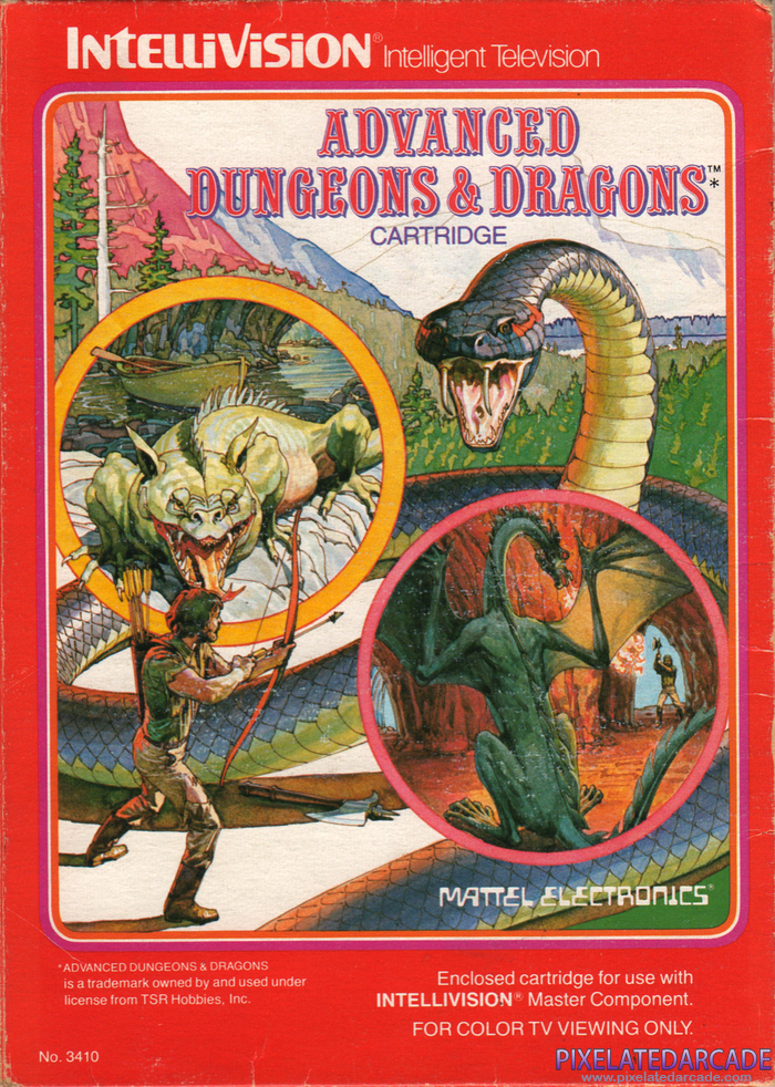 ADVANCED DUNGEONS & DRAGONS Cartridge Cover Art: