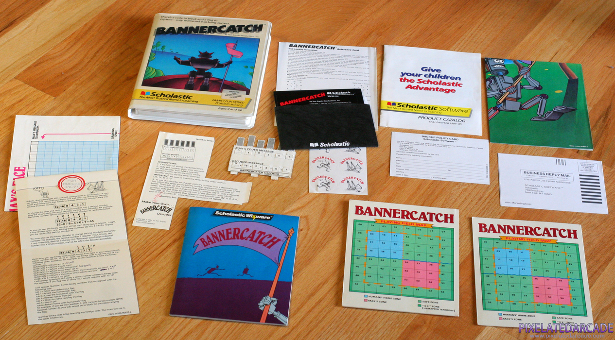 Bannercatch Cover Art: Bannercatch box and contents