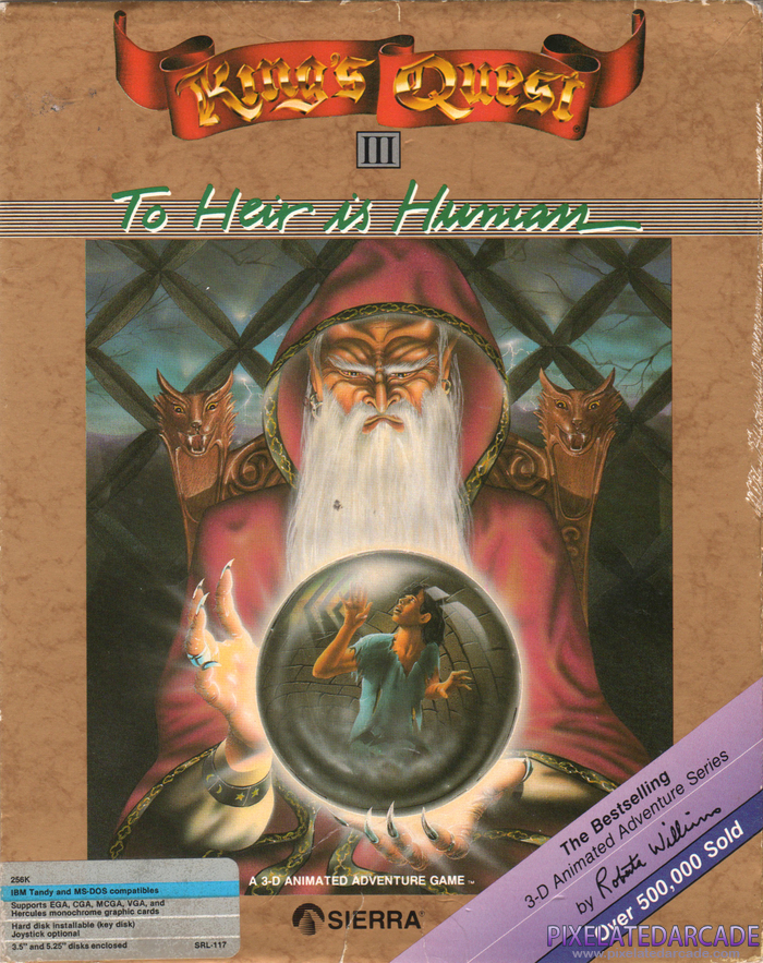 King's Quest III: To Heir is Human Cover Art: