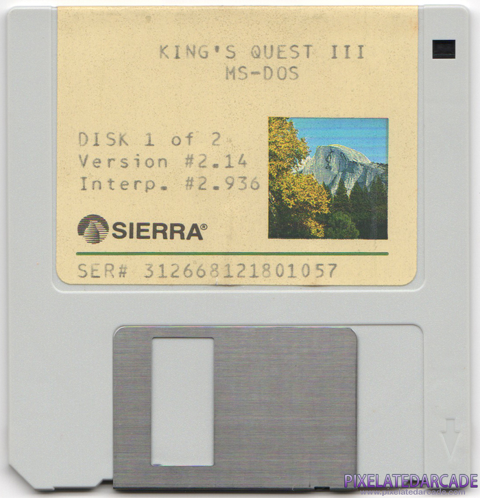 King's Quest III: To Heir is Human Cover Art: Disk 1 of 2 - Front