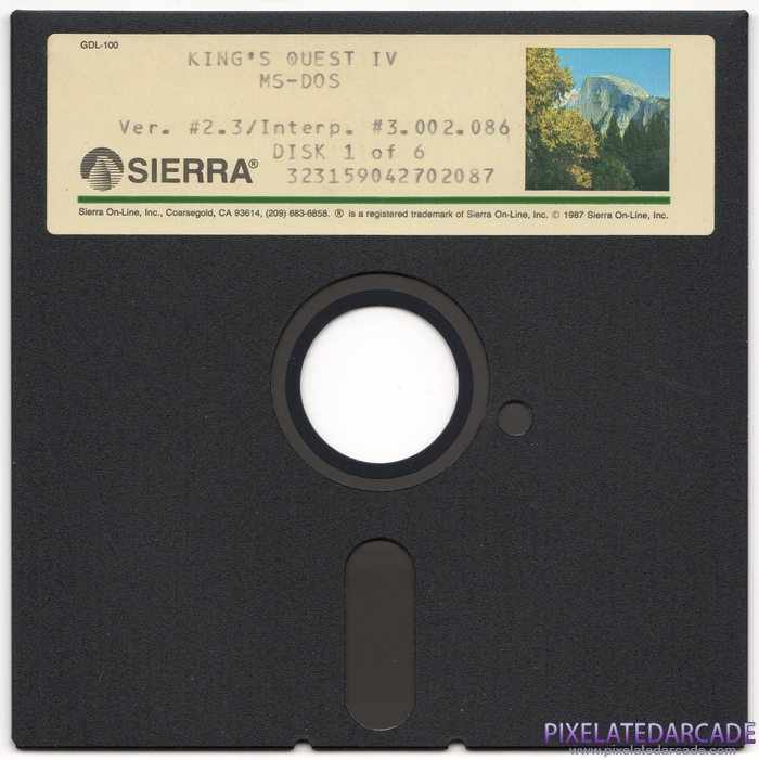 King's Quest IV: The Perils of Rosella Cover Art: Disk 1 of 6