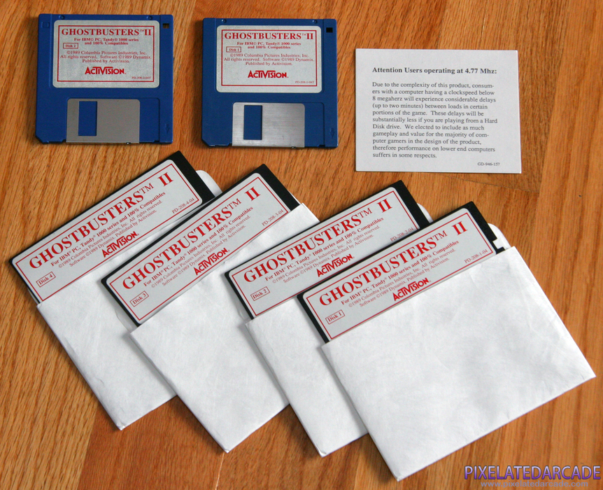 Ghostbusters II Cover Art: Game disks