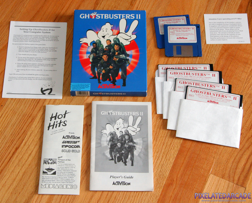 Ghostbusters II Cover Art: Box and contents