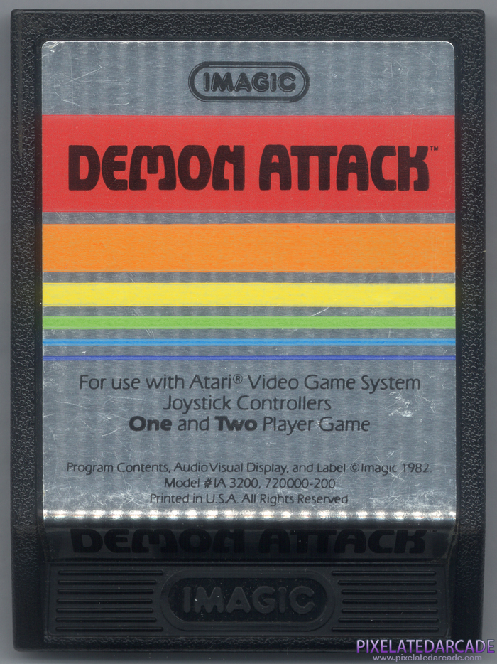 Demon Attack Cover Art: Front