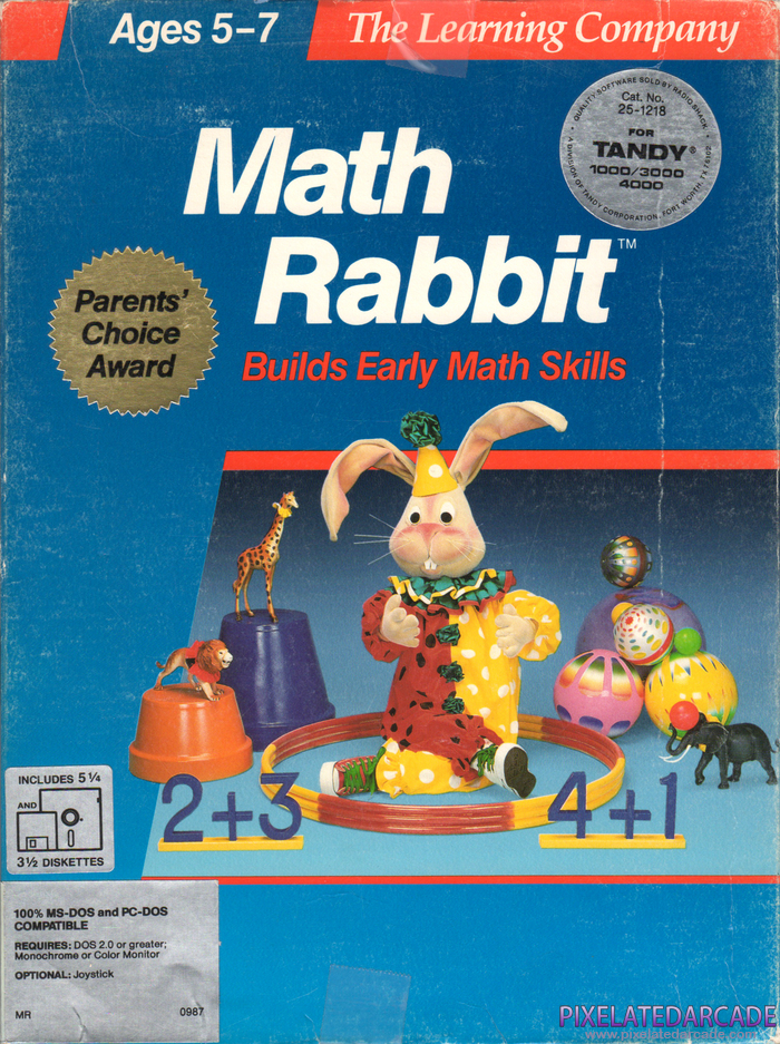 Math Rabbit Cover Art: