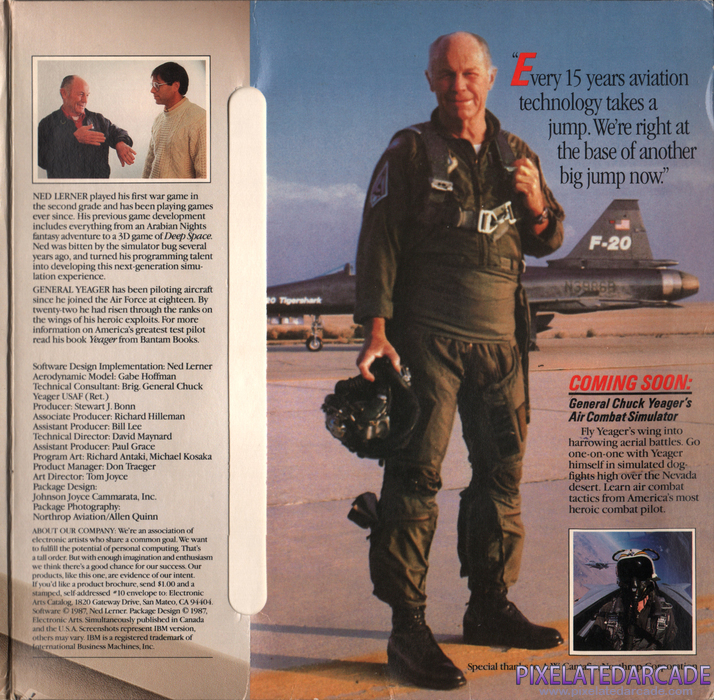 Chuck Yeager's Advanced Flight Simulator Cover Art: Right Side