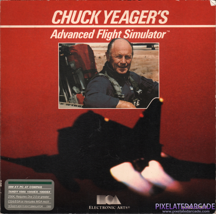 Chuck Yeager's Advanced Flight Simulator Cover Art: