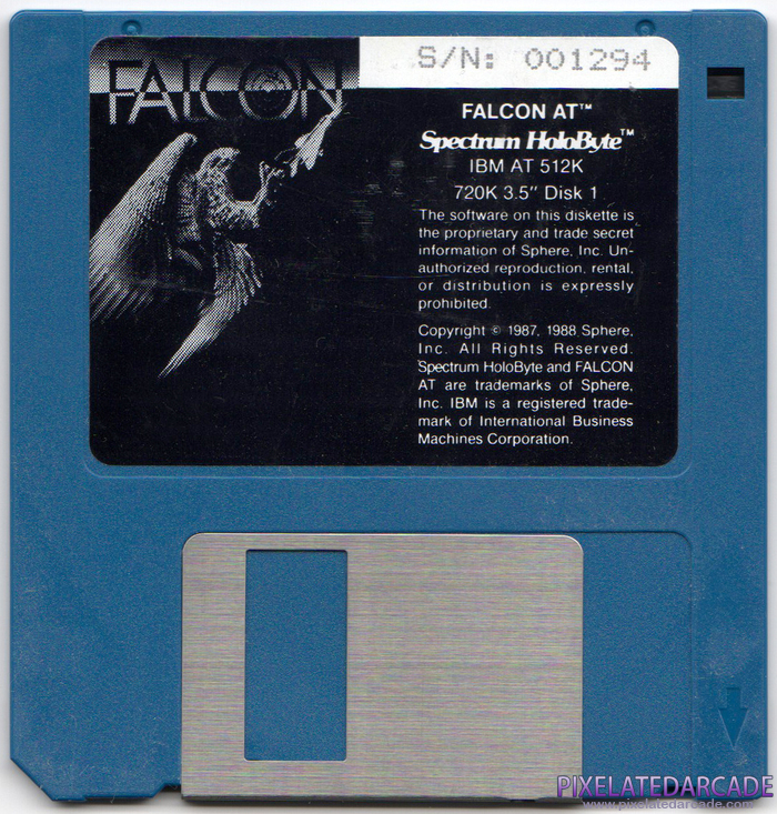 Falcon A.T. Cover Art: Disk 1 of 2