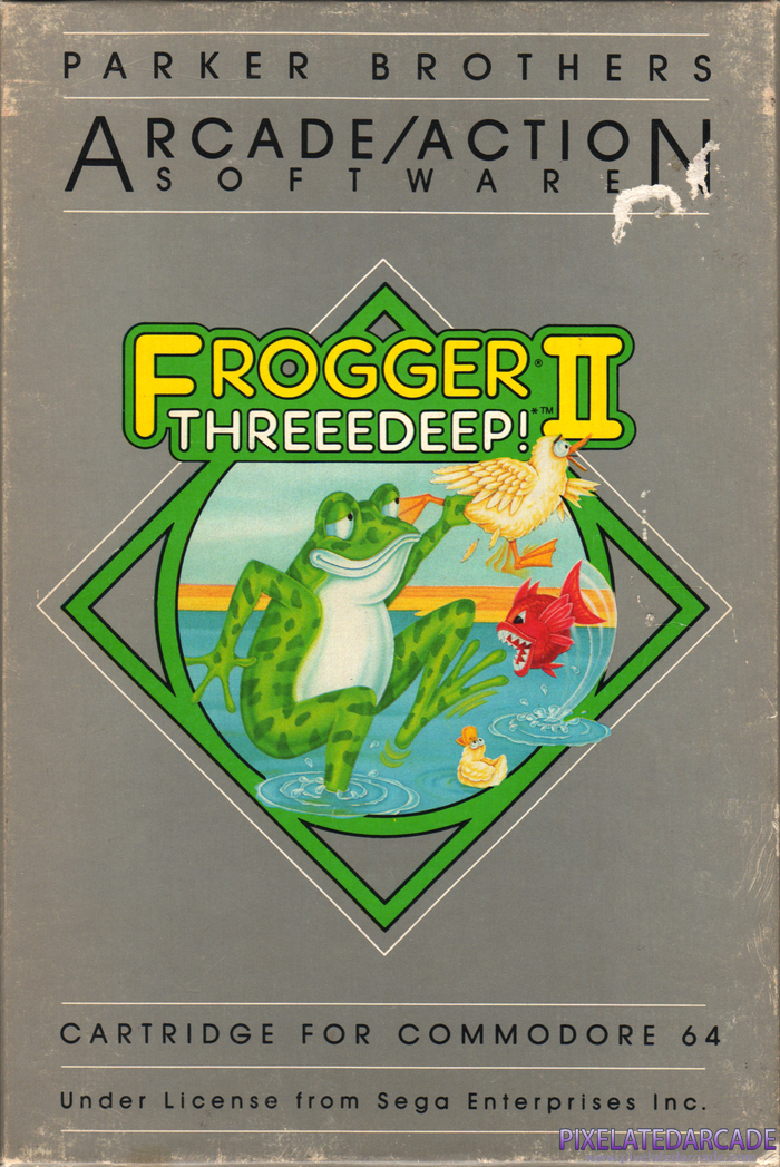 Frogger II: ThreeeDeep! Cover Art: