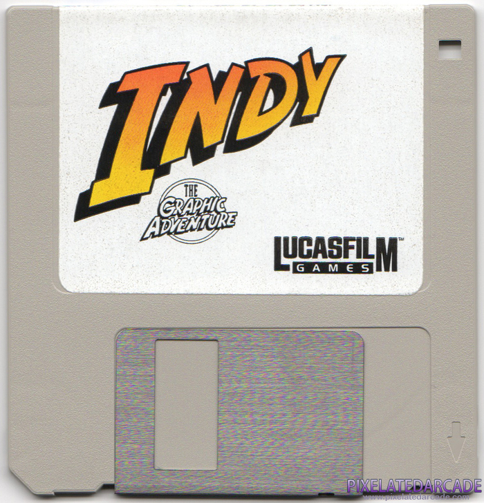 Indiana Jones and The Last Crusade: The Graphic Adventure Cover Art: Disk 1 of 3 - Front