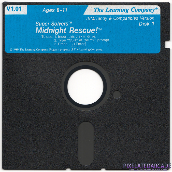 Super Solvers: Midnight Rescue! Cover Art: Disk 1 of 2