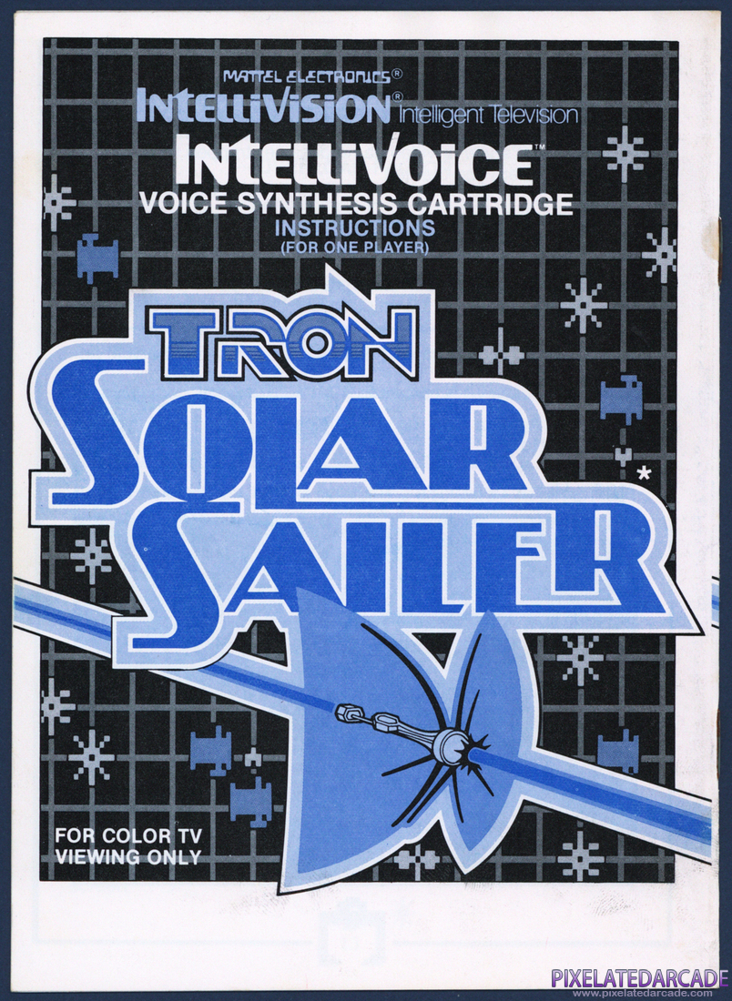 TRON: Solar Sailer: Instruction Manual - Back Cover