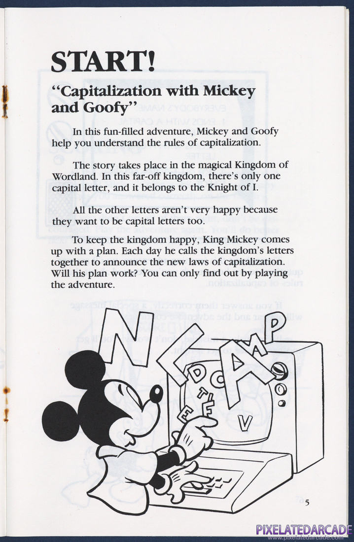 Mickey's World of Writing: Instruction Manual - Page 5