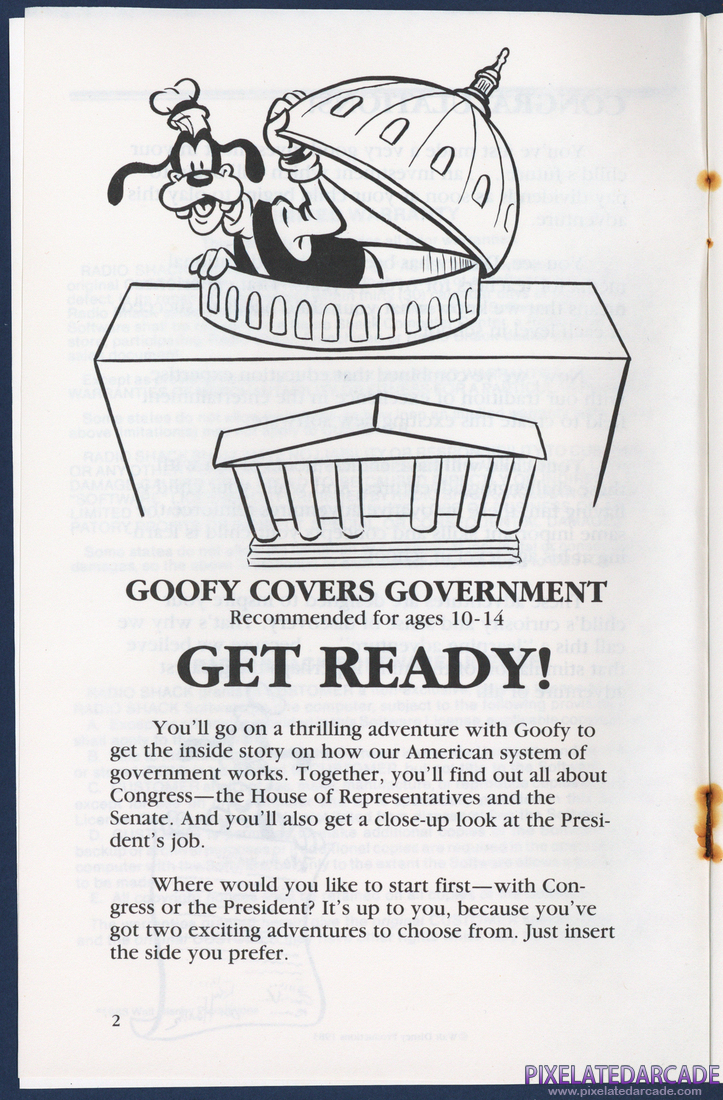 Goofy Covers Government: Instruction Manual - Page 2
