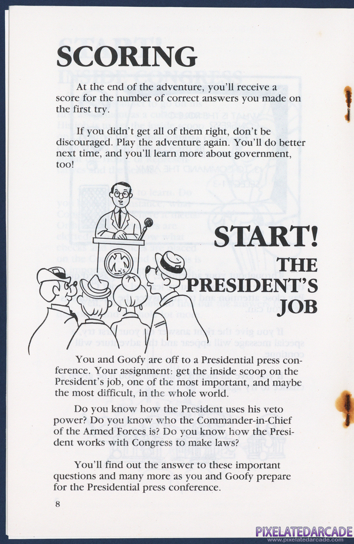 Goofy Covers Government: Instruction Manual - Page 8