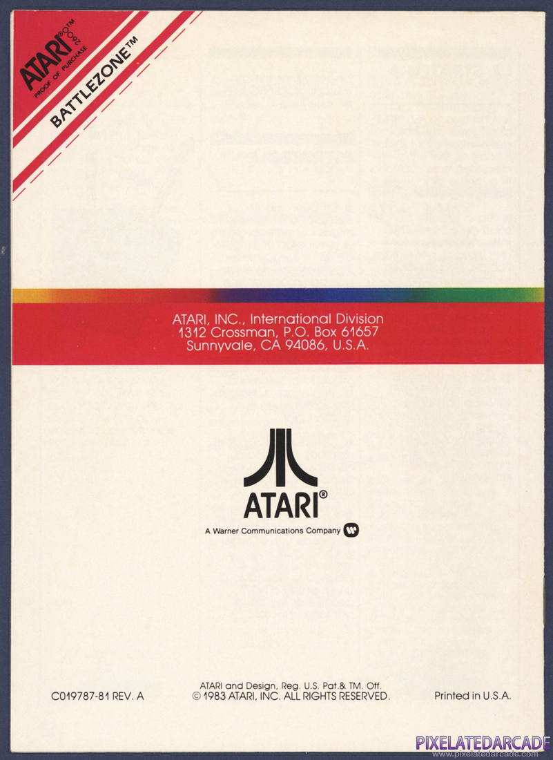 Battlezone: Instruction Manual - Page 9