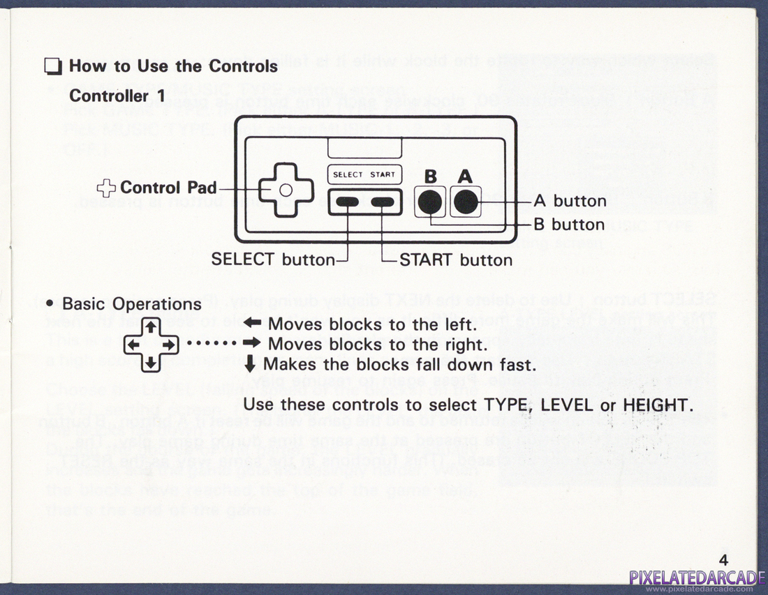 Tetris: Instruction Manual - Page 4