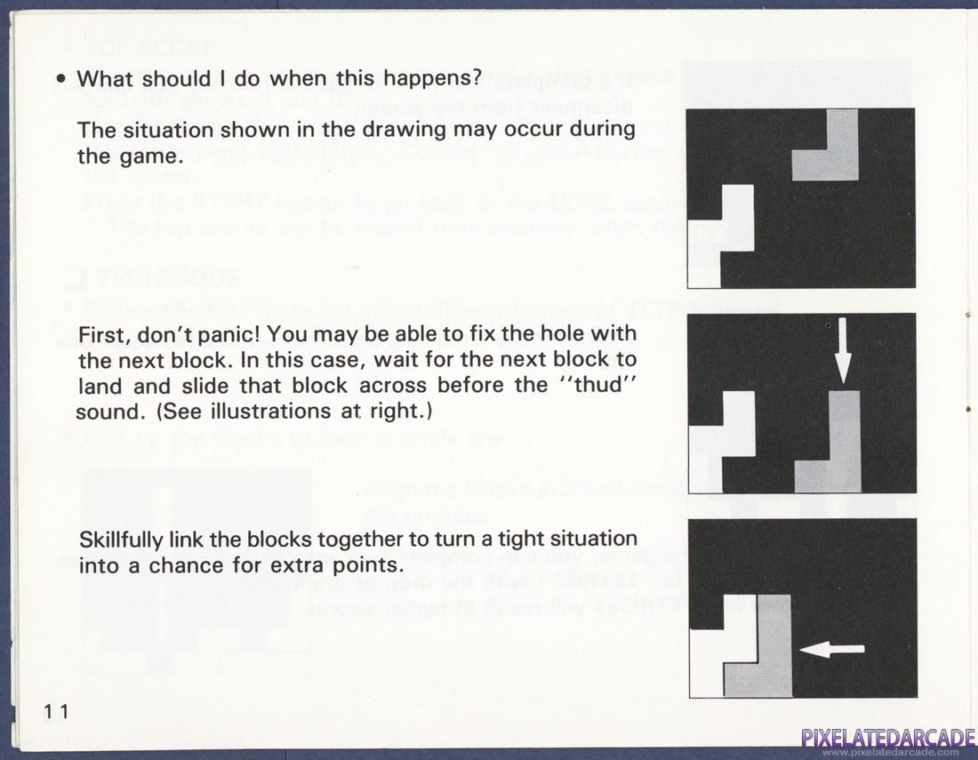 Tetris: Instruction Manual - Page 11