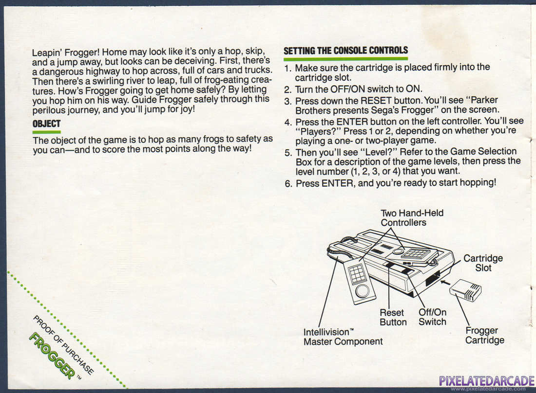 Frogger: Instruction Manual - Page 2