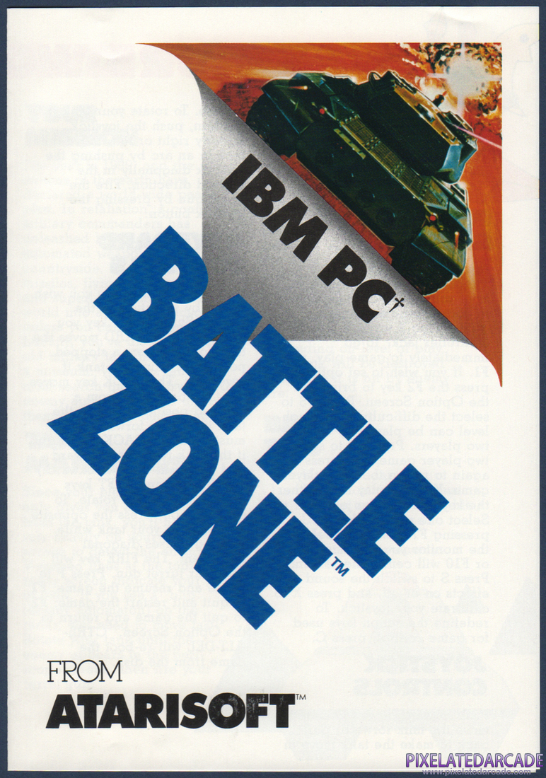 Battlezone: Instruction Manual - Page 1
