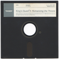 King's Quest II disk scan