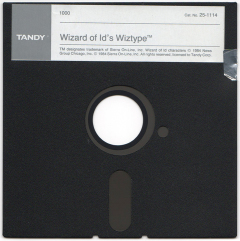 Wizard of Id's Wiztype disk scan