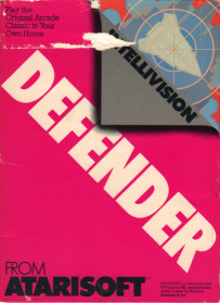 Defender Intellivision box front