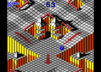 Arcade version of Marble Madness
