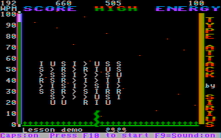 IBM PC version of Type Attack