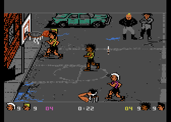 Atari 7800 version of BasketBrawl