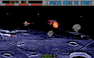 Amiga version of Blasteroids