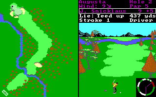 Tandy 1000 version of World Tour Golf