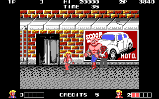 IBM EGA version of Double Dragon