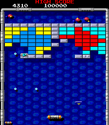 Arcade version of Arkanoid 2