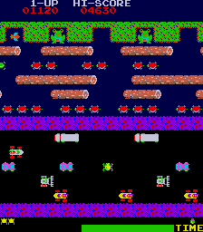 Arcade version of Frogger