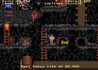Arcade version of Temple of Doom