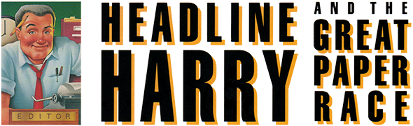 Headline Harry and The Great Paper Race logo