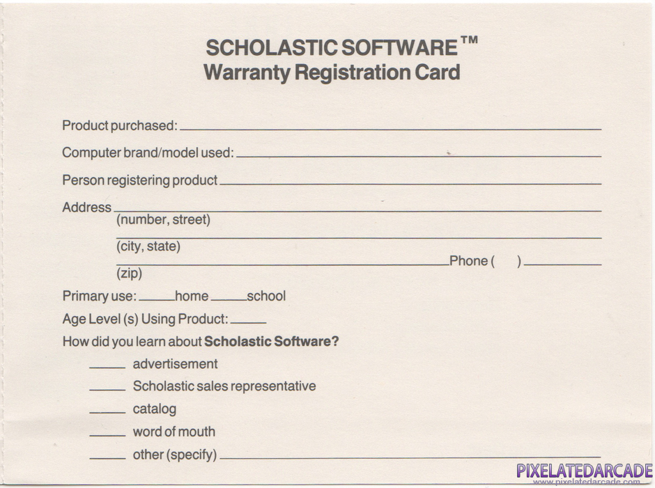 Bannercatch Package Contents: Warranty registration card - Inside Right