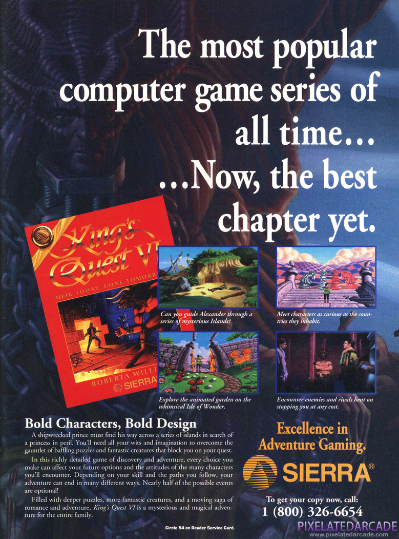 King's Quest VI: Heir Today, Gone Tomorrow Advertisement: December 1992 magazine ad