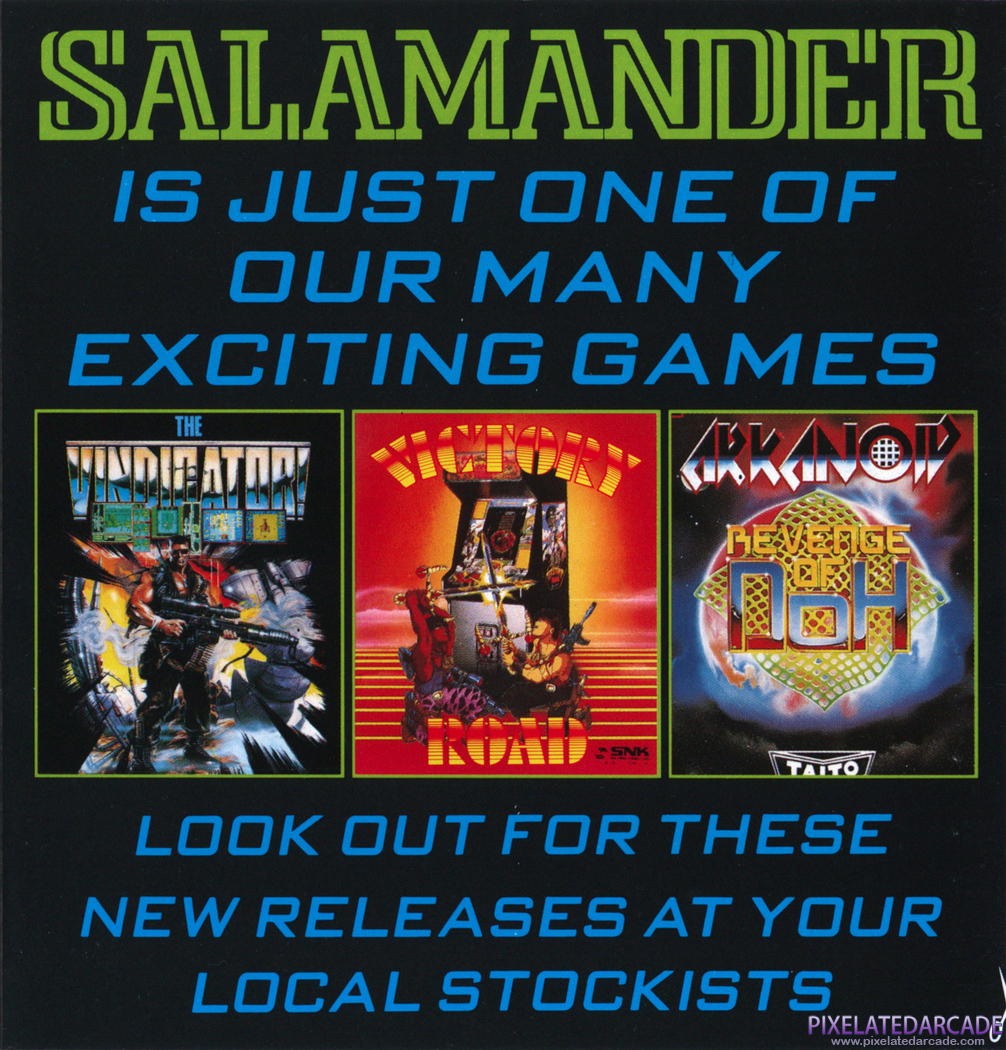 Ikari Warriors II: Victory Road Advertisement: Salamander instruction manual advertisement