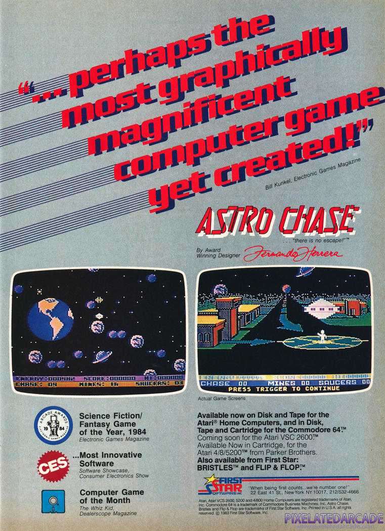 Astro Chase Advertisement: March 1984 magazine ad