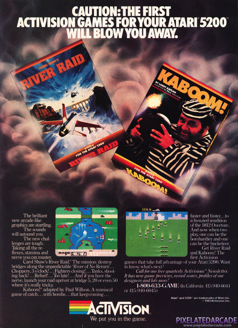 River Raid Advertisement: Activision 1984 magazine ad